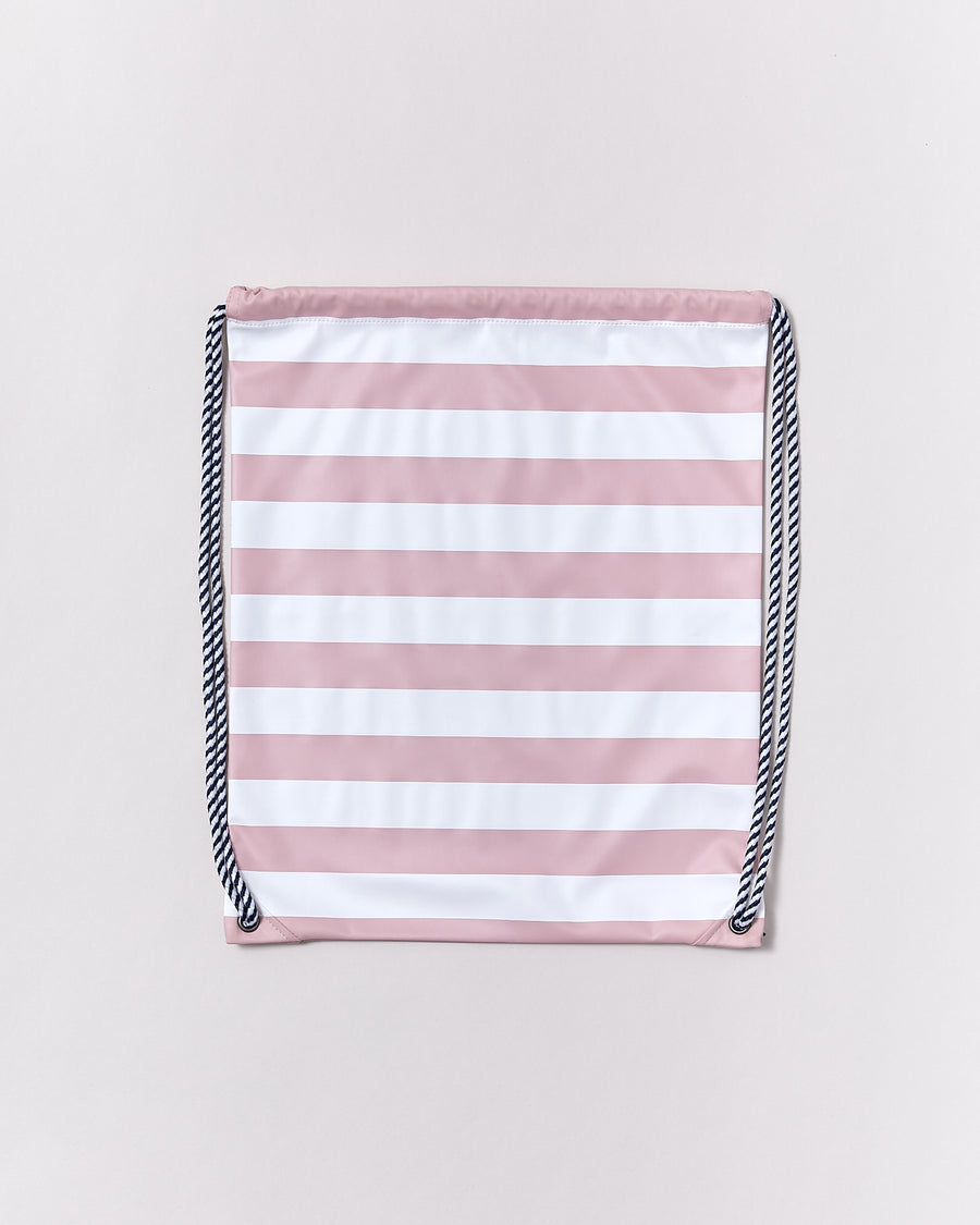 Drawstring Bag - Blush Pink Stripe - Rainkoat