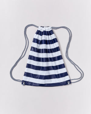 Drawstring Bag - Ink Navy Stripe - Rainkoat