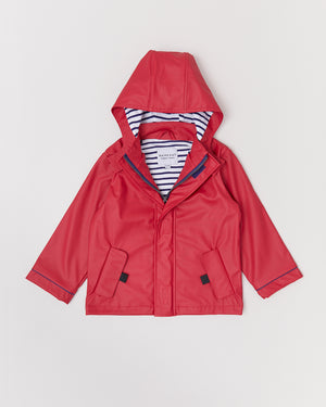 Stripy Sailor - Deep Red - Rainkoat