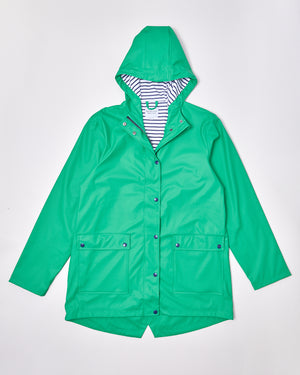 Women's Stripy Sailor - Astro Green - Rainkoat