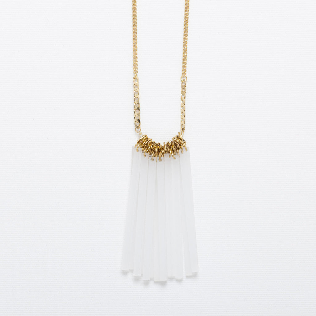 Ray- White Statement Necklace