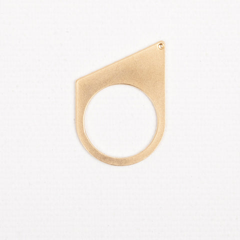Side- gold ring