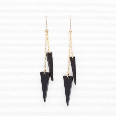 Teli- Black Earrings