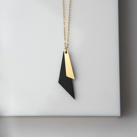 Trikon- Black Triangle necklace