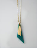 Trikon- Green Triangle necklace