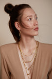 Gormet- Gold Twisted chain necklace