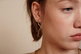 GARIS - Gold Line Statement Earrings