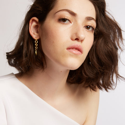 Ron- Gold dangle Earrings