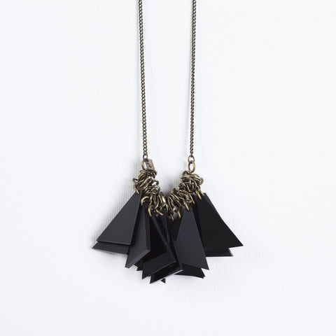 Tutu- Long Black Statement Necklace