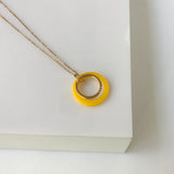 LIMAO Long yellow necklace