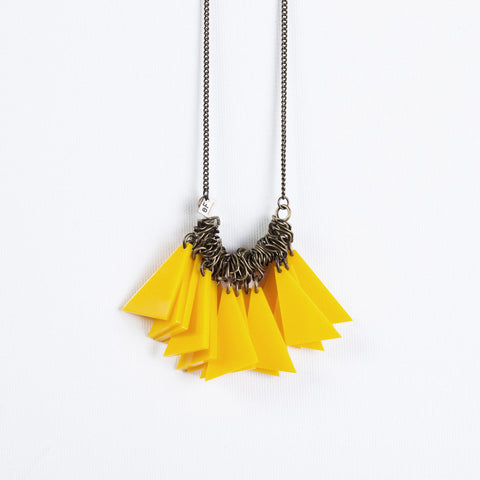 Tutu- Long Yellow Statement Necklace
