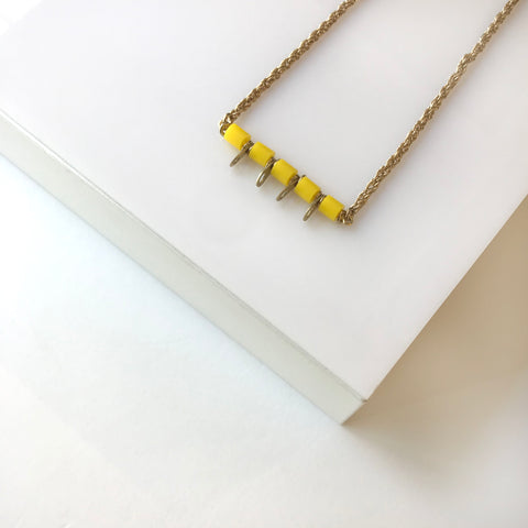 Sawa Yellow necklace