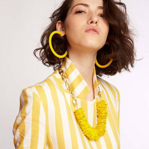 Nata- Yellow Balloons Handmade Statement Necklace