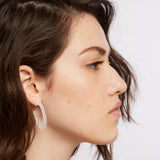 Cit - White Oval Statement Earring