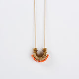 Dus- Long Orange Elegant Necklace