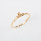 Tetris- T shaped Dainty Ring