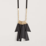 Nani- Long Black Statement, Fringe Necklace