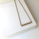 GF- Goldfilled tube necklace