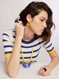 Lem- Yellow Triangle Statement Earring