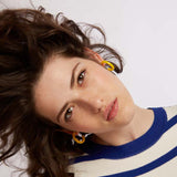 Snap m- Yellow Gipsy Statement Earring