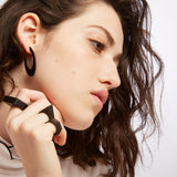 Cit - Black Oval Statement Earring