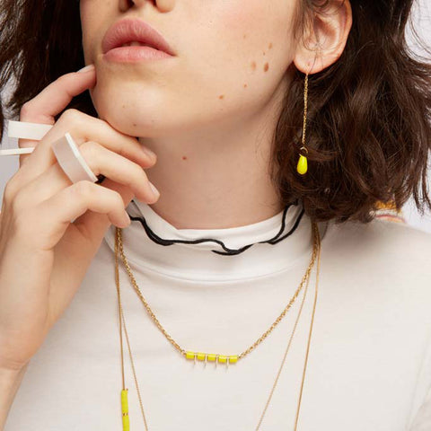 Sawa- Yellow Dainty necklace
