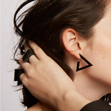 Lem Black Triangle Earring