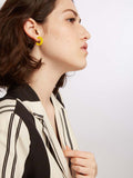 Snap s- Yellow Gipsy Statement Earring