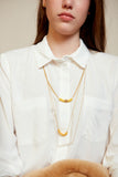 Tao- Yellow Rubber Dainty Necklace