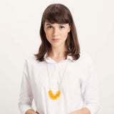 Edge- Transparent Yellow Necklace