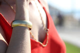 Bounce- Gold Bangle Bracelet
