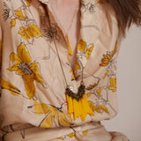 Segi- Yellow Triangles Statement Necklace