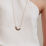 Tao- Gray Rubber Dainty Necklace