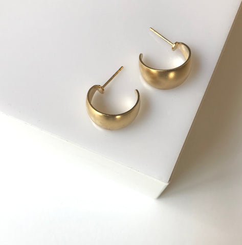 Zest- Small Gipsy Gold Earrings