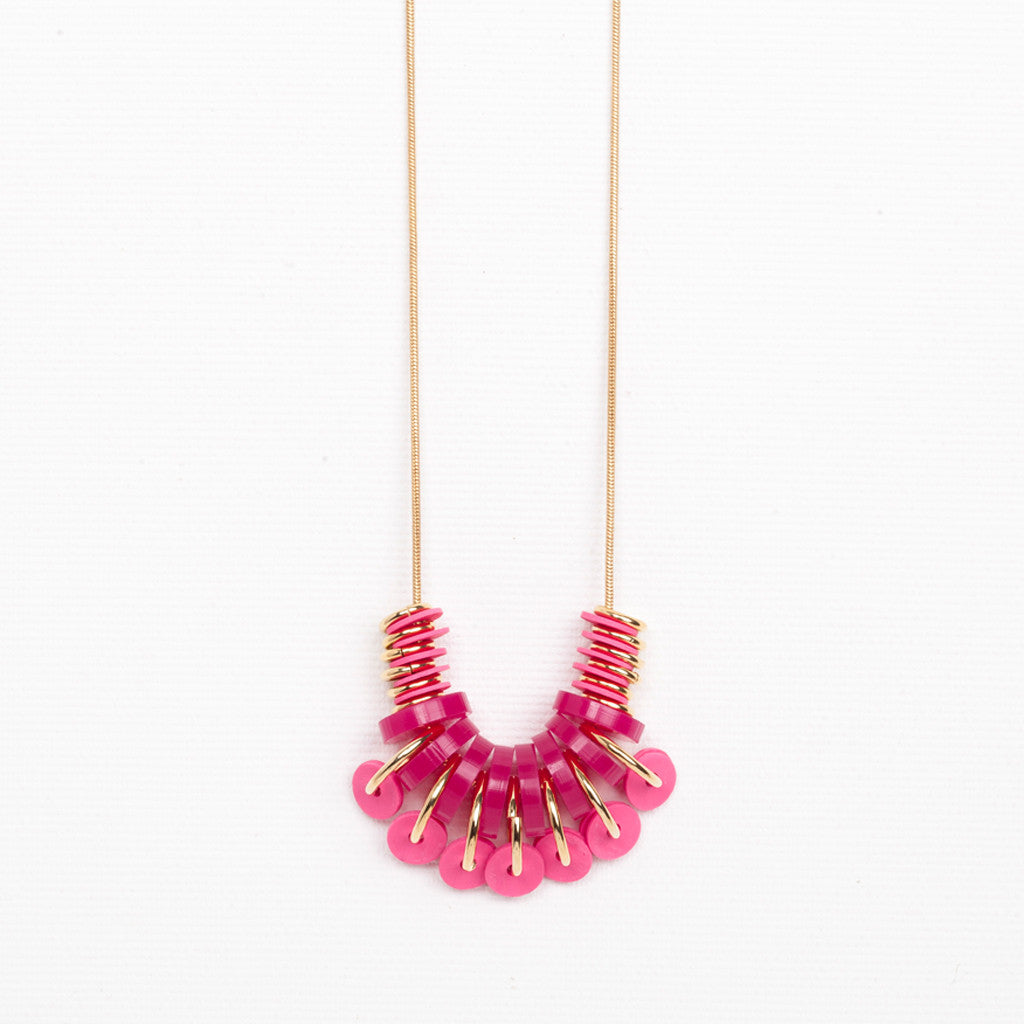 Buza- Pink Necklace
