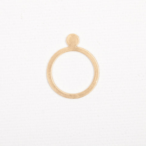 Dot- gold ring