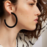 Snap XL - Large Black Gipsy Statement Earring