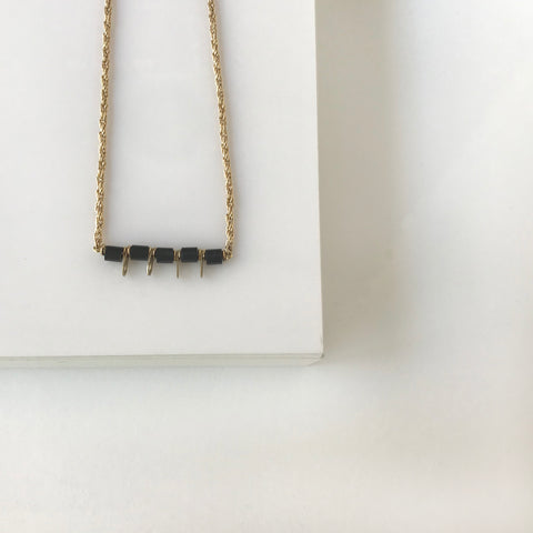 Sawa- Black Dainty necklace