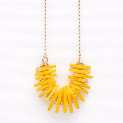 Edge- Yellow Necklace