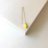 Pip- Long Chain earring with Yellow Bead
