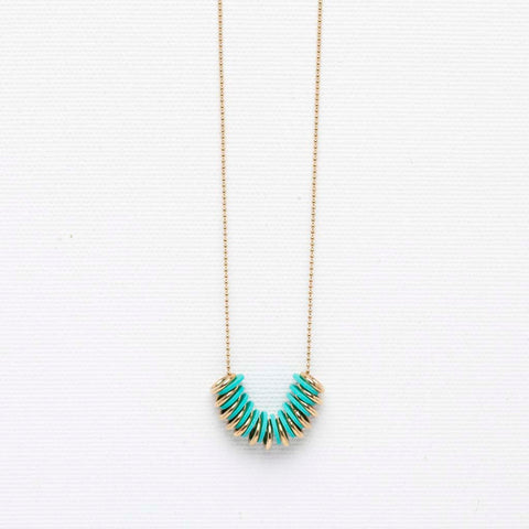 Mossy- Dainty turquoise necklace