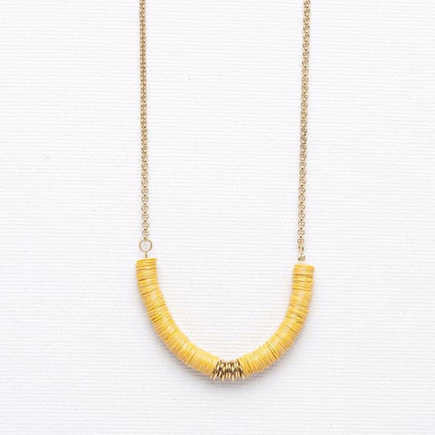 Mush- Yellow Necklace