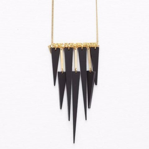 Spike- Black Necklace