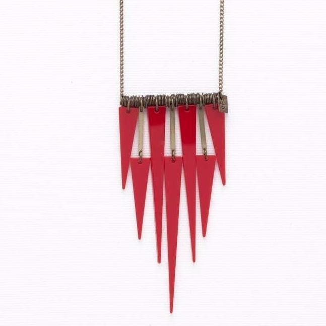 Spike- Red Necklace
