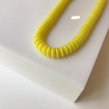 Citron Yellow beaded necklace