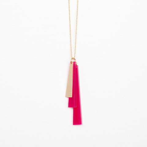 Trio- Pink Necklace