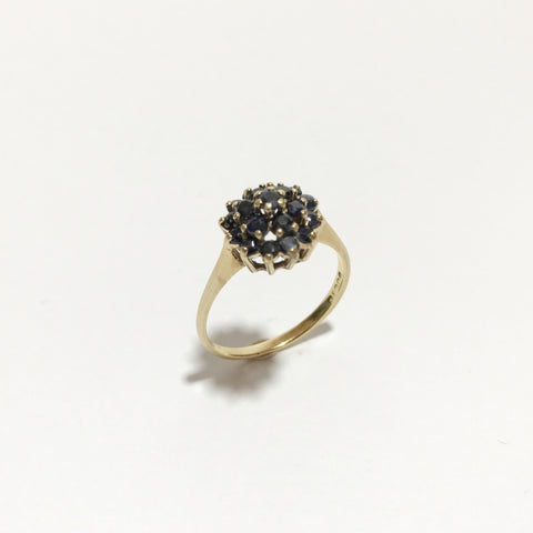 9K Gold, Vintage Ring, With Sapphires Stones