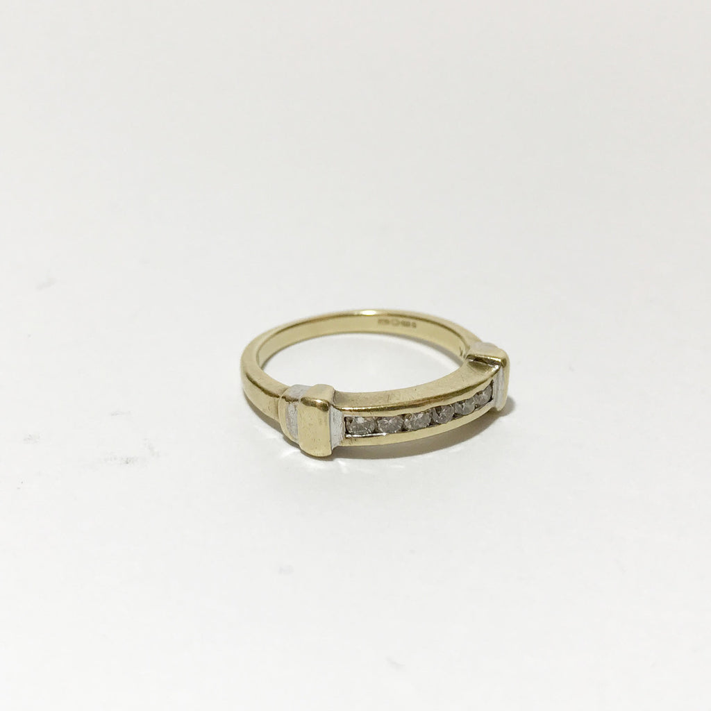 9K Gold, Vintage Ring, With Diamonds