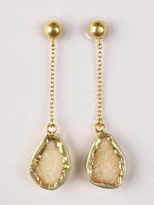 Beize Druzy Chain Drop Earrings