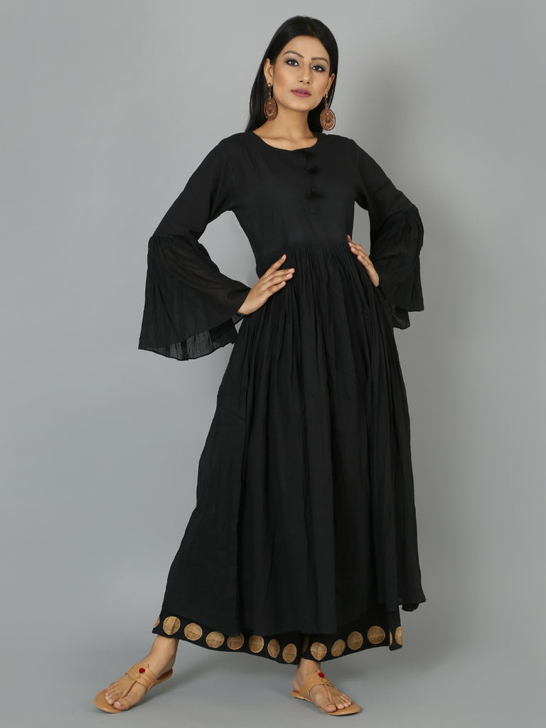 Black Cotton Anarkali